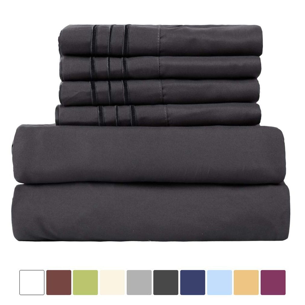 Dark gray King Size Bed Supplies Bed Sheets Fitted Bedspread Home Textile Supplies