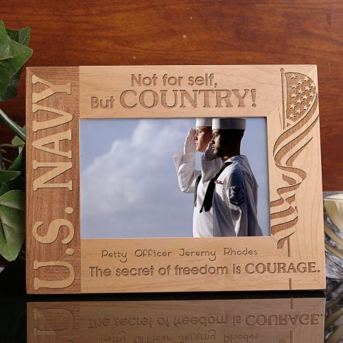 U.S. Navy Wood Picture Frame - Home Goods Galore