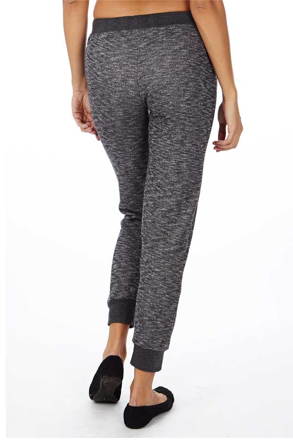 Black Heather French Terry Joggers - Home Goods Galore
