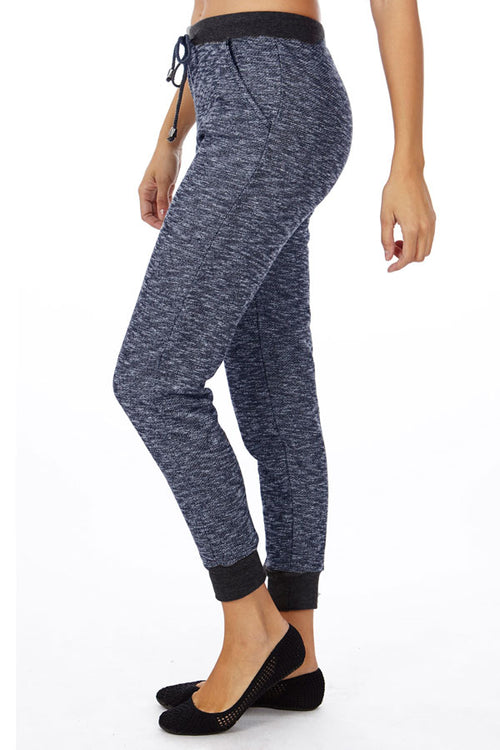 Navy Heather French Terry Joggers - Home Goods Galore