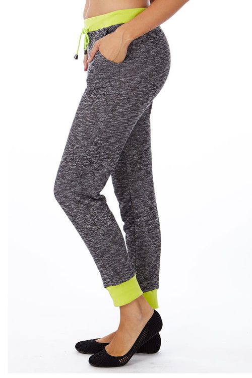 Neon Green Heather French Terry Joggers - Home Goods Galore