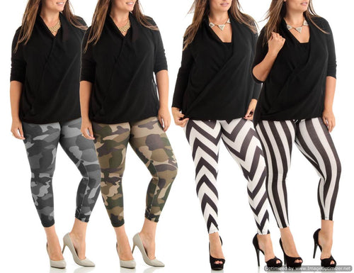 4 Pack Leggings-TOTX-01/TOTX-03/GBP-034/GBP-036-1X - Home Goods Galore