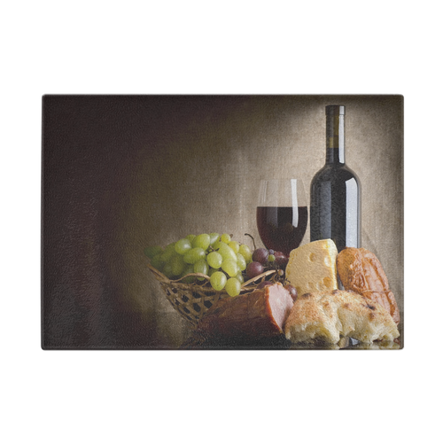 Wine Cheese and Grapes Cutting Board - Home Goods Galore