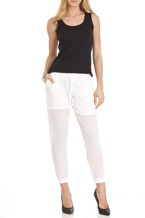 White Chiffon Harem pants - Home Goods Galore