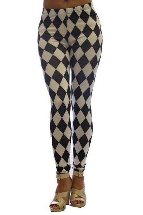 Black And White Diamond Ankle Leggings - Home Goods Galore