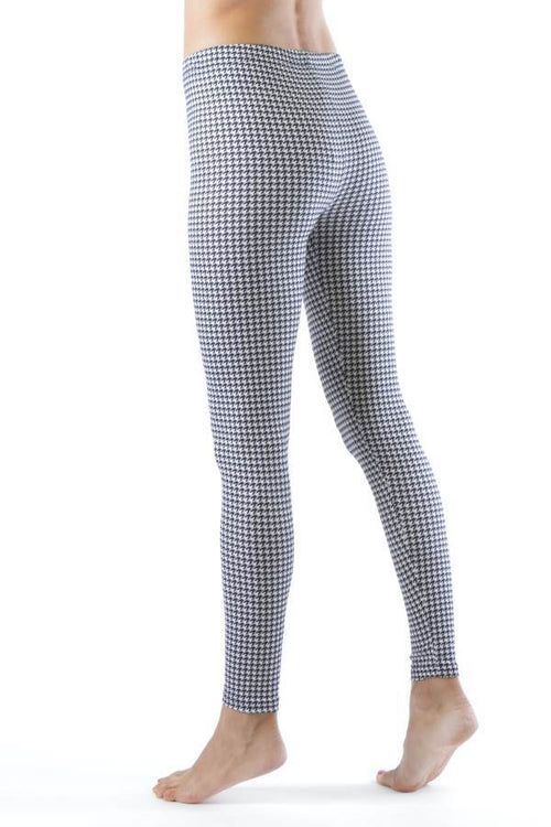 Houndstooth Print Ankle Leggings - Home Goods Galore