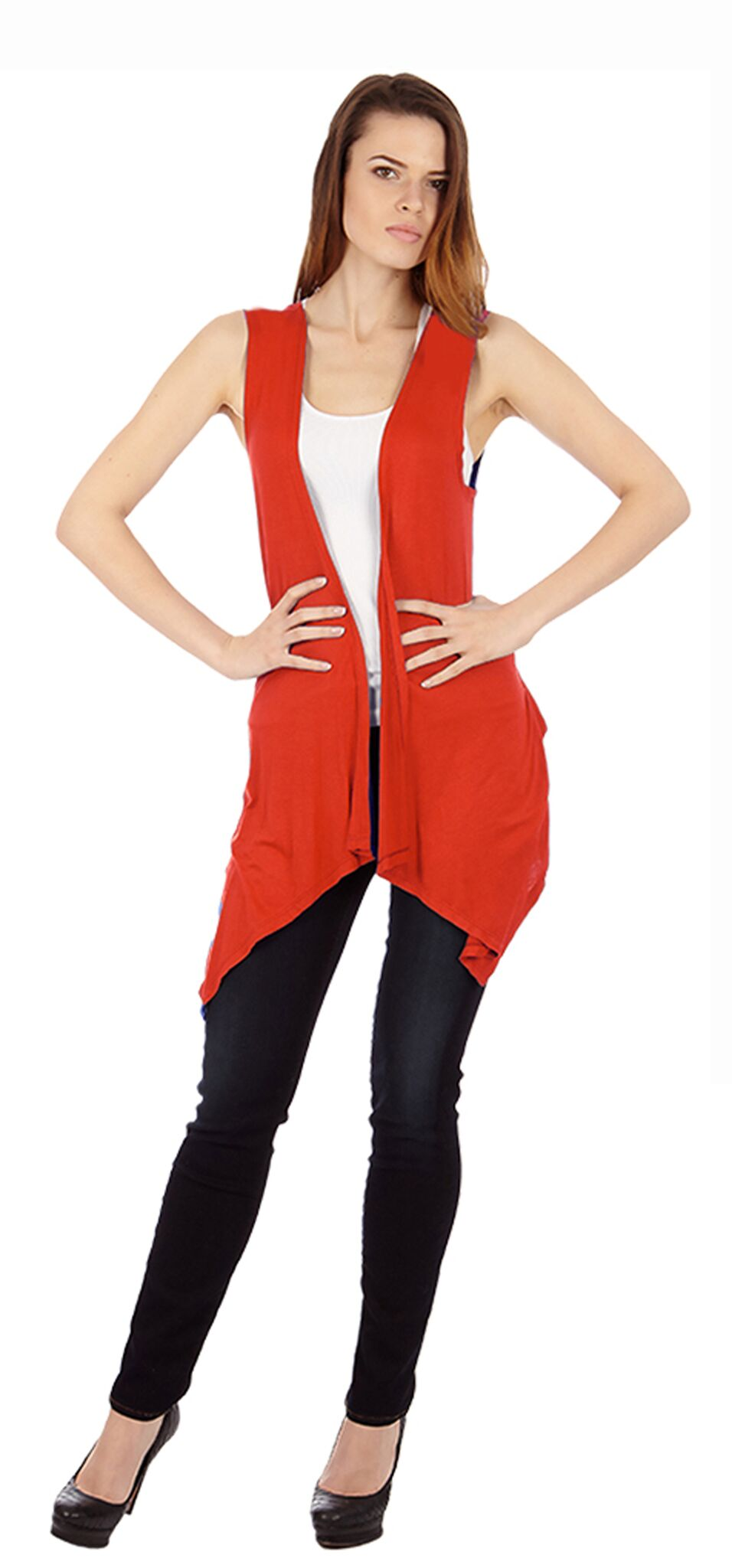 Red Sleveless Cardigan - Home Goods Galore