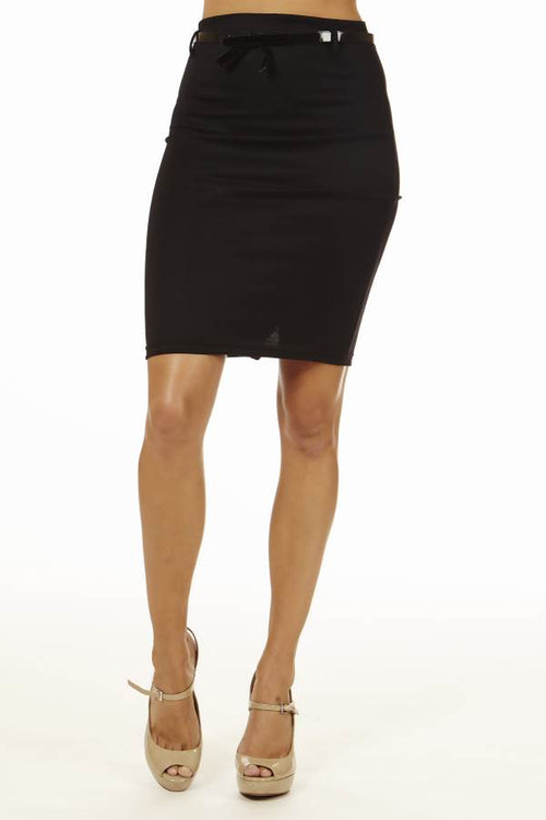 Black High Pencil Skirt - Home Goods Galore