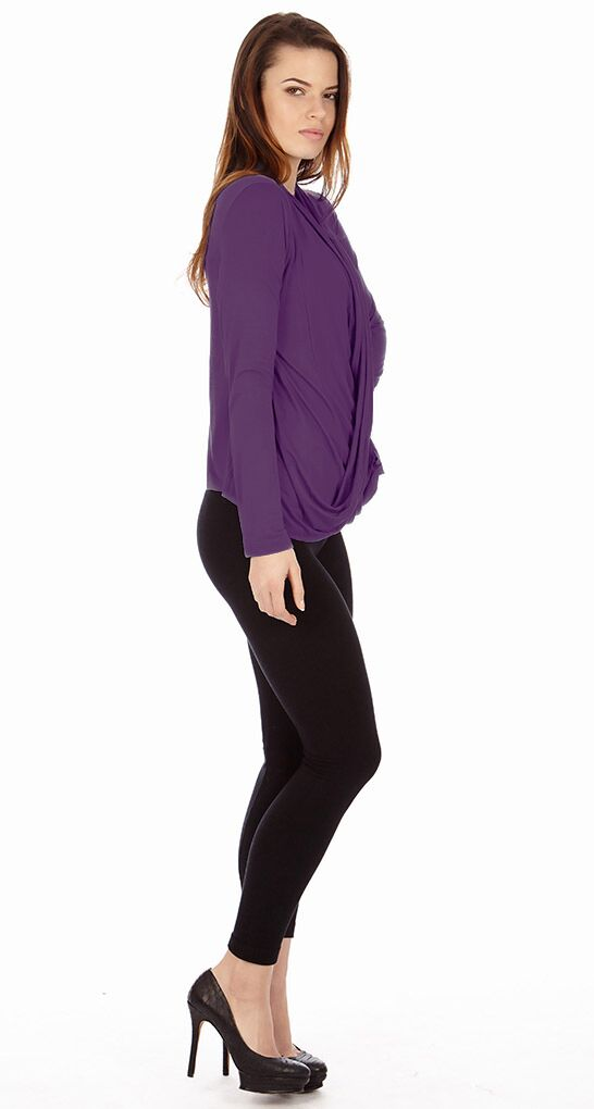 Grape Criss Cross Cardigan Sweaters - Home Goods Galore