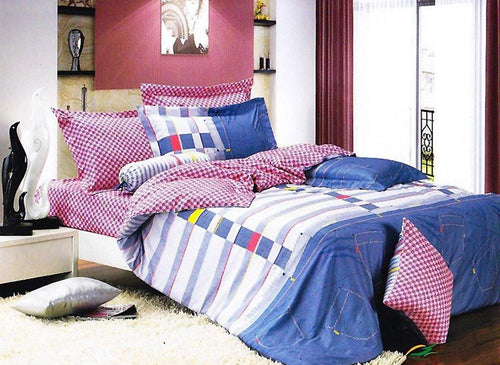 Duvet cover set Luxury Twin bedding Le Vele LE455T - Home Goods Galore