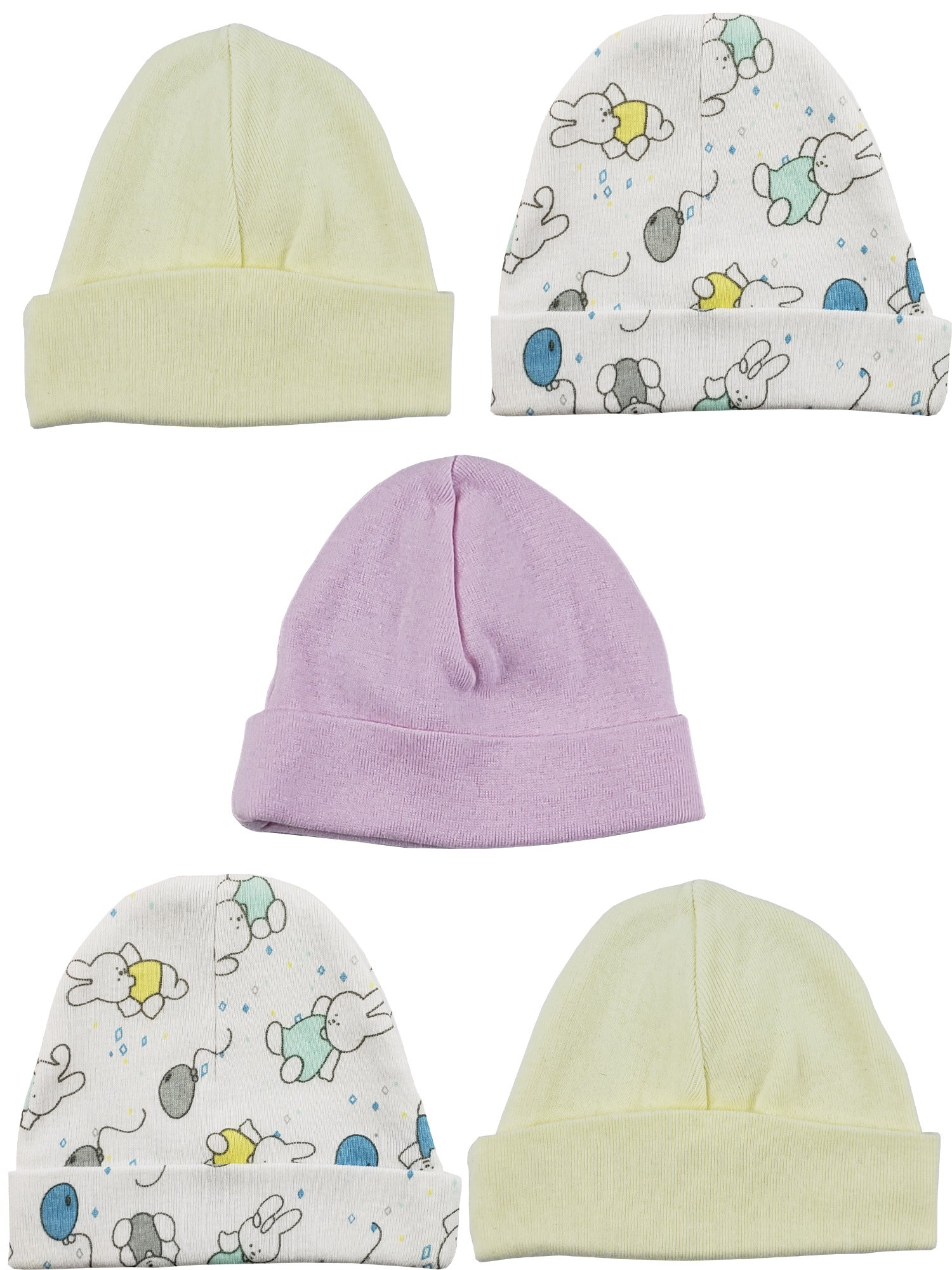 Bambini Girls Baby Cap (Pack of 5)