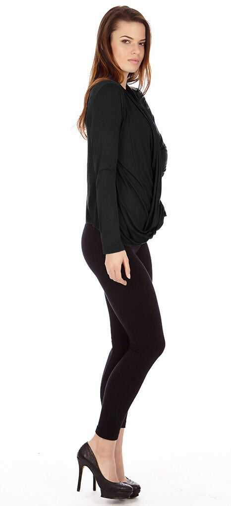 Black Criss Cross Cardigan Sweaters - Home Goods Galore
