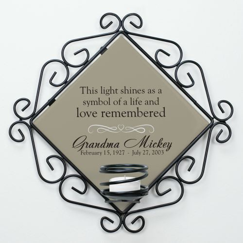 Personalized ceramic Memorial Candle Holder - Home Goods Galore