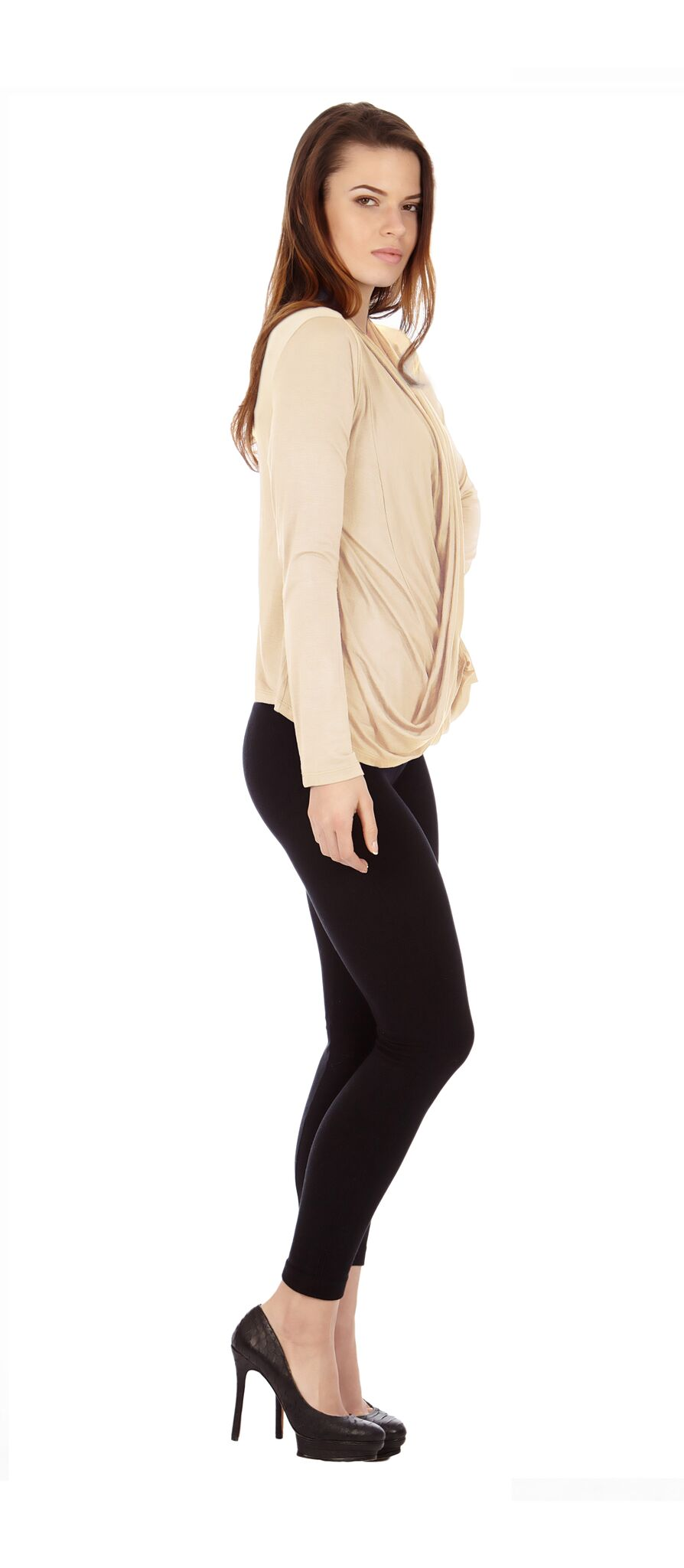 Sand Criss Cross Cardigan Sweaters - Home Goods Galore