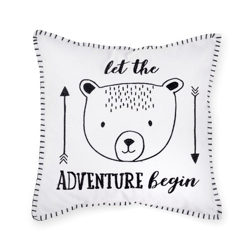 Adventures Bear Cotton Decorative Pillow
