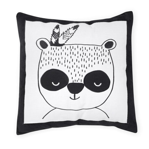 Adventures Panda Cotton Decorative Pillow