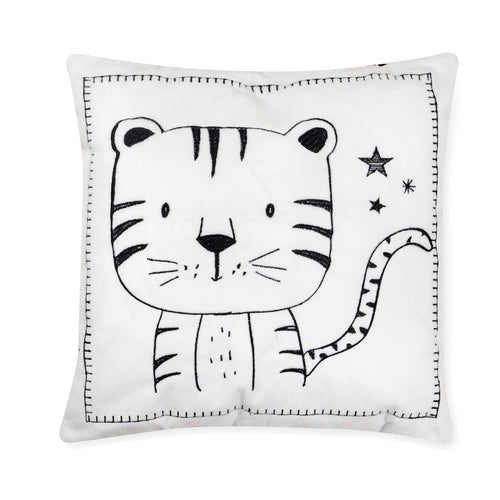 Adventures Tiger Cotton Decorative Pillow