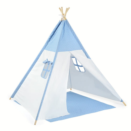 Authentic Teepee Play Tent Arrow Blue