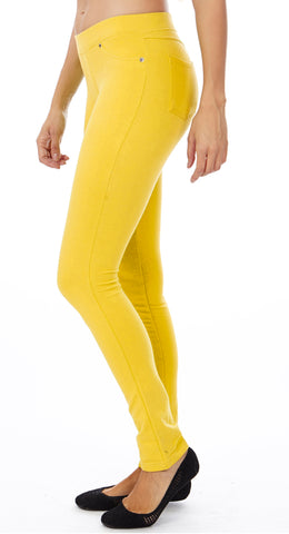 Women's Banana color Brazilian Moleton Jeggings