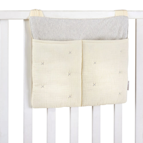 Beige Tetra Cotton Diaper Bag