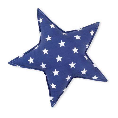 Blue Small Star Cotton Decorative Pillow