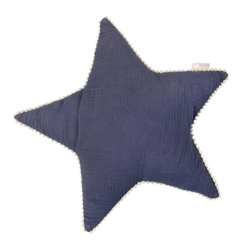 Blue Star Tetra Cotton Decorative Pillow