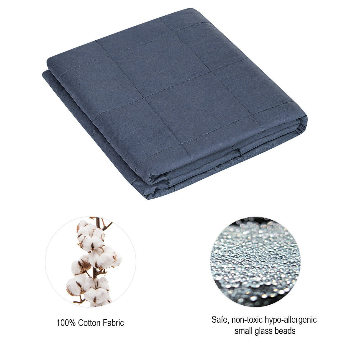 20 lbs Heavy Gravity Sensory Weighted Blanket with Cover Glass Beads
