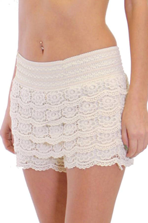 Cream Crochet Shorts - Home Goods Galore