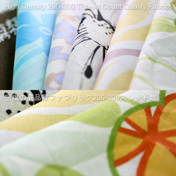 [Artistic Green] 100% Cotton 2PC Mini Comforter Cover/Duvet Cover Set (Twin Size)