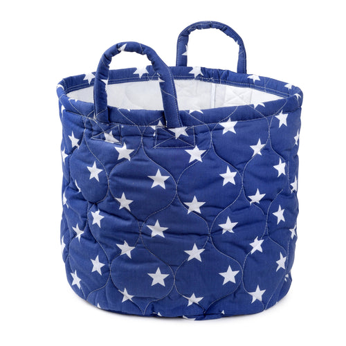 Foldable Blue Star Storage Bin Closet Toy Box Container Organizer Fabric Basket