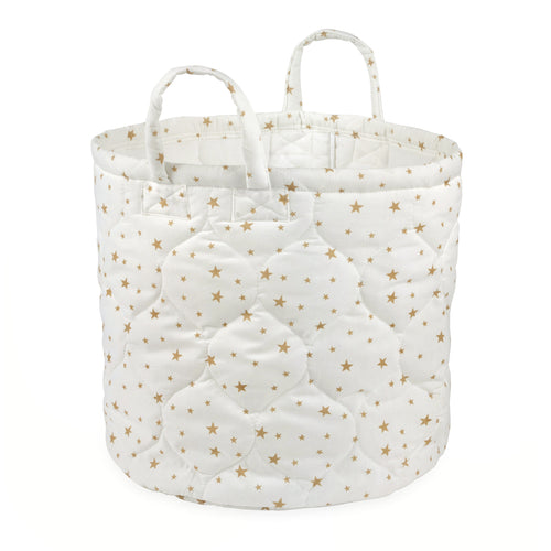 Foldable Small Gold Stars Storage Bin Closet Toy Box Container Organizer Fabric Basket