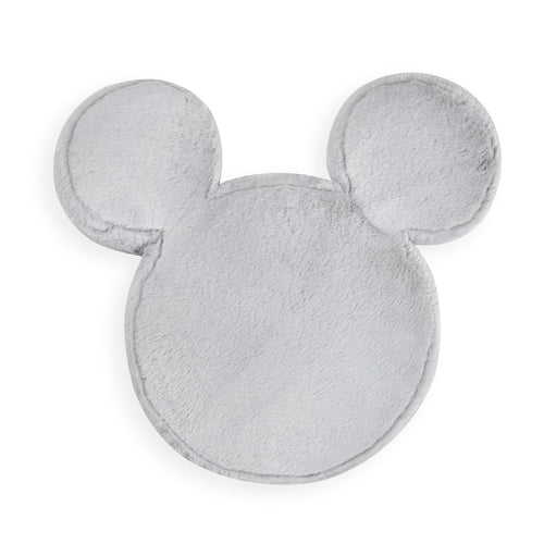 Grey Furry Mickey Shape Decorative Pillow