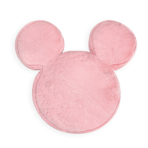 Pink Furry Mickey Shape Decorative Pillow