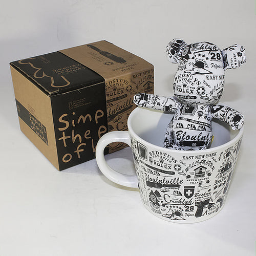 SYNC - [Graffiti] Stuffed Bear Mug (3.3 inch height)