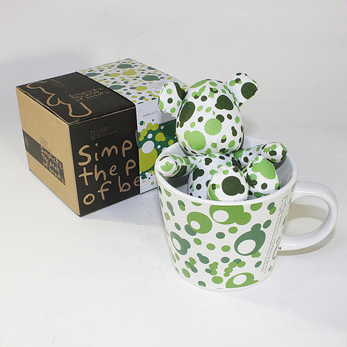 SYNC - [Bubble Green] Stuffed Bear Mug (3.3 inch height)