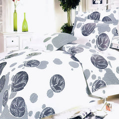 White Gray Marbles 100% Cotton 4PC Duvet Cover Set King Size - Home Goods Galore
