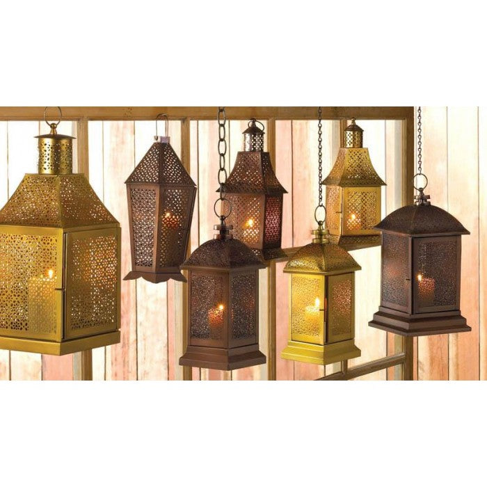Exotic Hexagonal Candle Lantern - 13 inches