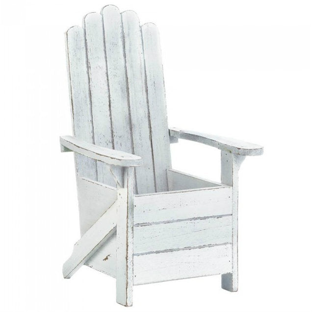 Wood Adirondack Chair Planter