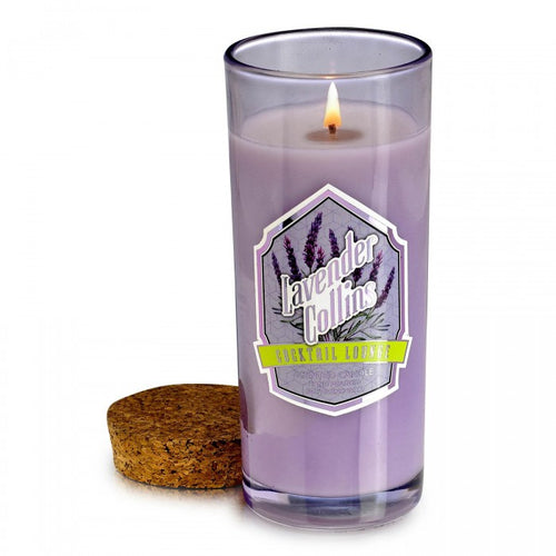 Lavender Collins Cocktail Jar Candle with Cork