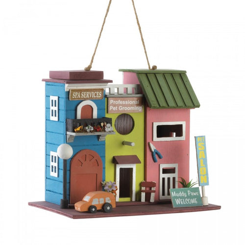 Pet Salon Wood Bird House