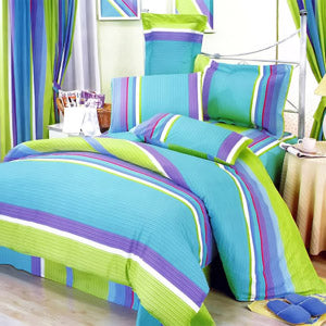 Rhythm of Life 100% Cotton 7PC MEGA Duvet Cover Set King Size - Home Goods Galore