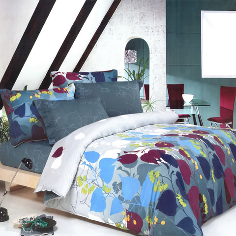 Twin Size Duvet Cover Sheets Set, Atlantic Dolphins