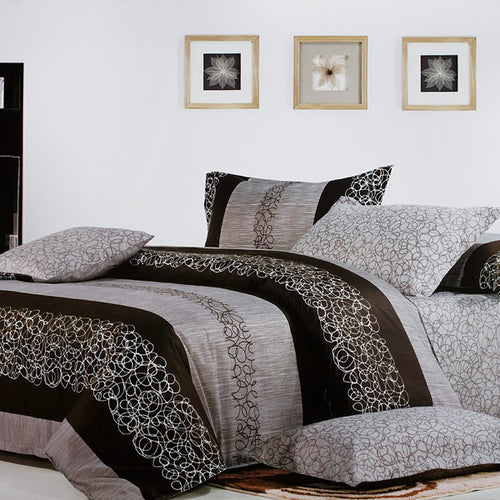 Charming Garret Luxury 5PC Comforter Set Combo 300GSM Queen Size - Home Goods Galore