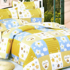 Yellow Countryside 100% Cotton 4PC Duvet Cover Set King Size - Home Goods Galore