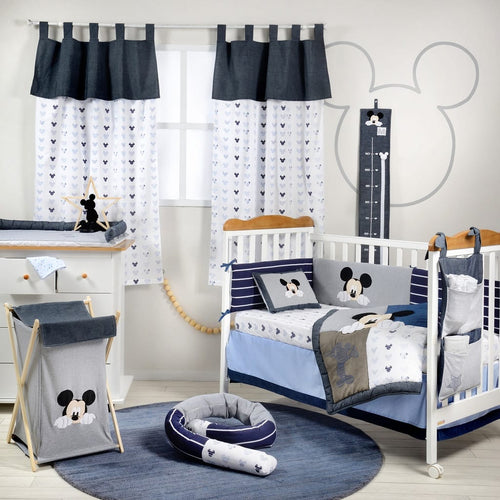 Mickey Mouse 90 Years Of Magic Cotton 3 Piece Crib Bedding Set For Boys