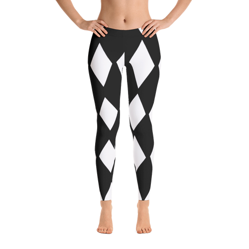 Black & White Large Diamond Print Leggings