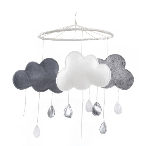 Modern Three Cloud Gray White Mobile Large Dream Catcher Mobile