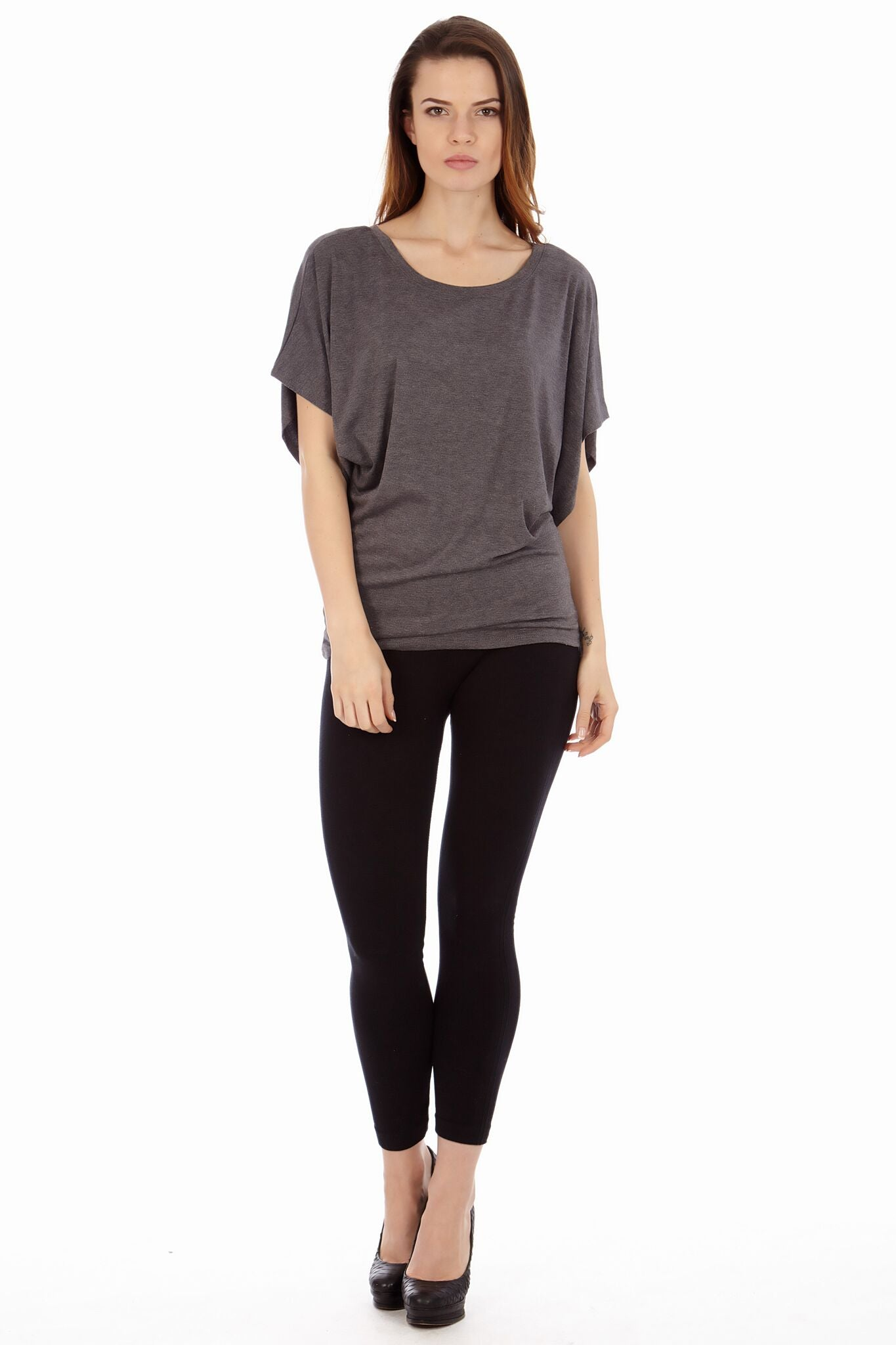 Dark Heather Gray Tunic Top