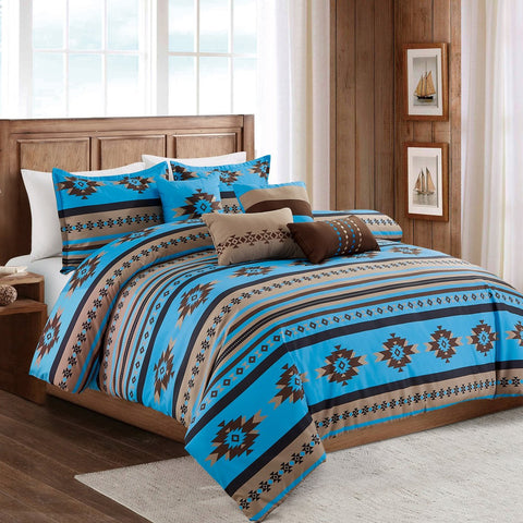 Riding Western Cowboy Horseshoe Comforter Set - 7 Piece Set