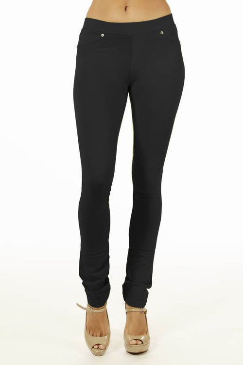 Black Brazilian Moleton Women's Jeggings - Home Goods Galore